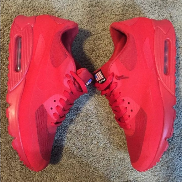 Nike Air Max Independence Day Red worn once UK SIZE 8.5